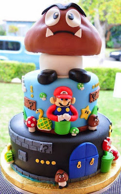 Tarta cumple castillo Mario Bros