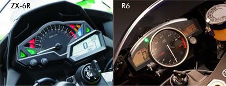 Speedometer Yamaha R6 vs Kawasaki ZX-6R