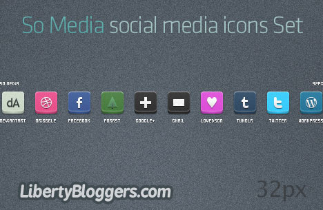So Media Social Media Icons Set