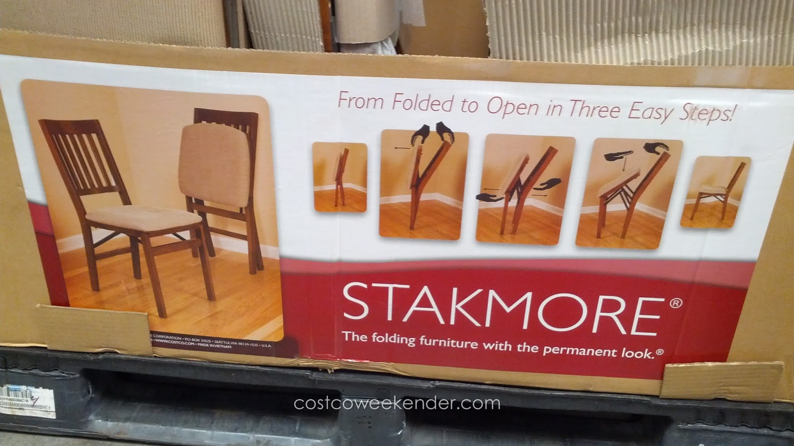Stakmore Folding Chair: From Folded To Open In Three Easy Steps!
