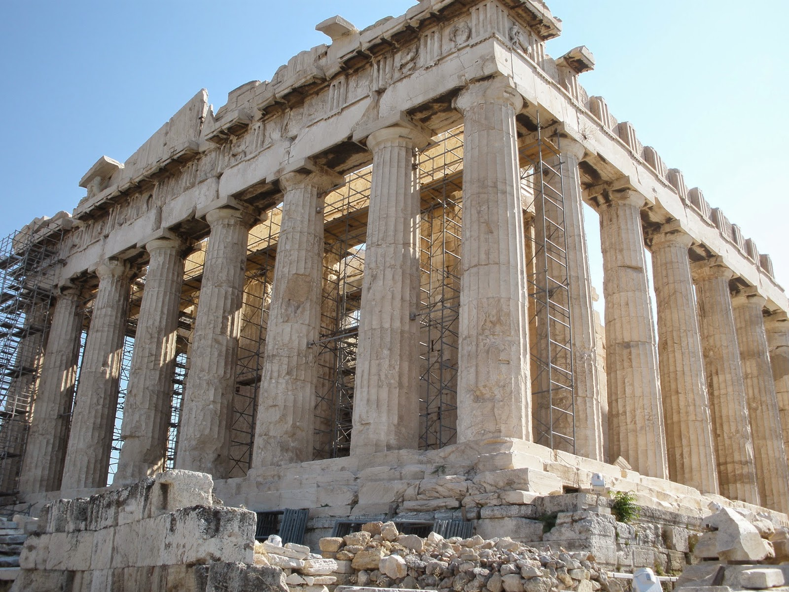 Partenón, Atenas uno de los templos antiguos que se conservan.