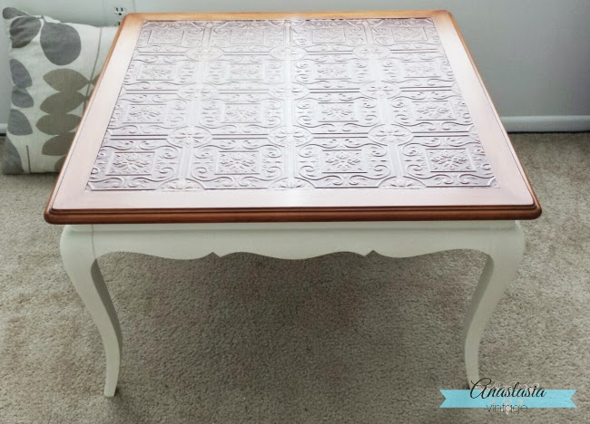 french provincial table wallpaper decoupage paint stain white paint wood