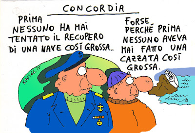 Il Concordia affonda - Vignetta