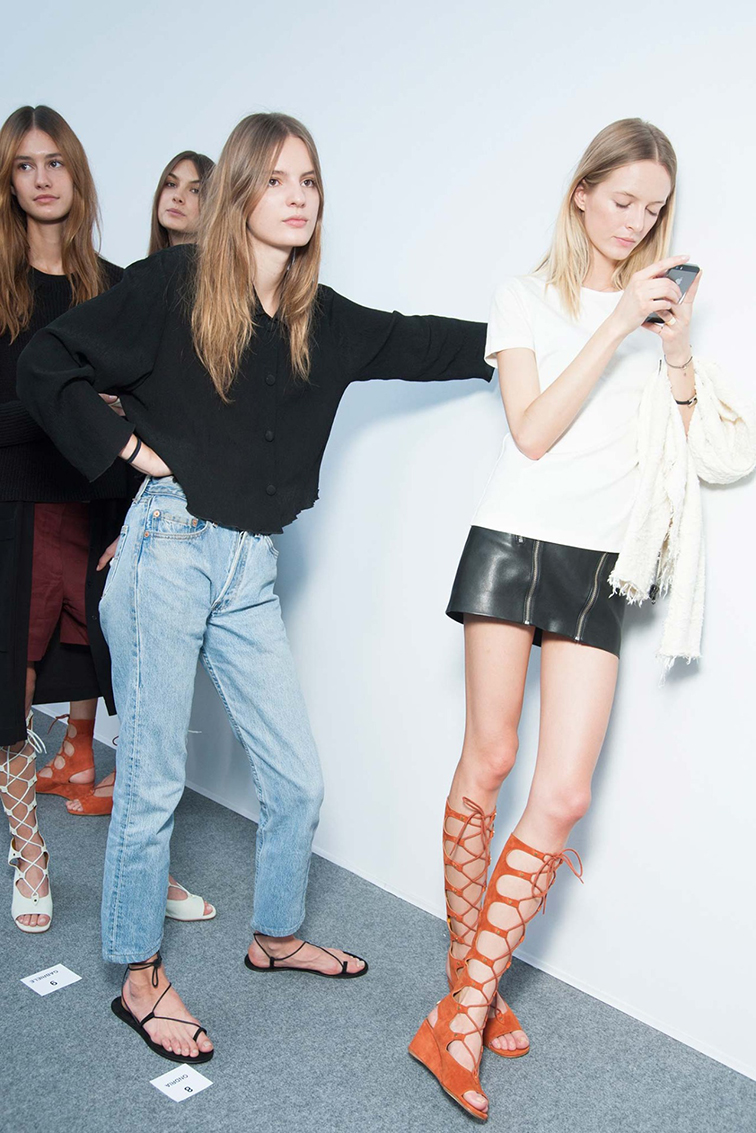 Spring 2015 Ready-to-Wear Chloé backstage, PFW, Paris Fashion Week