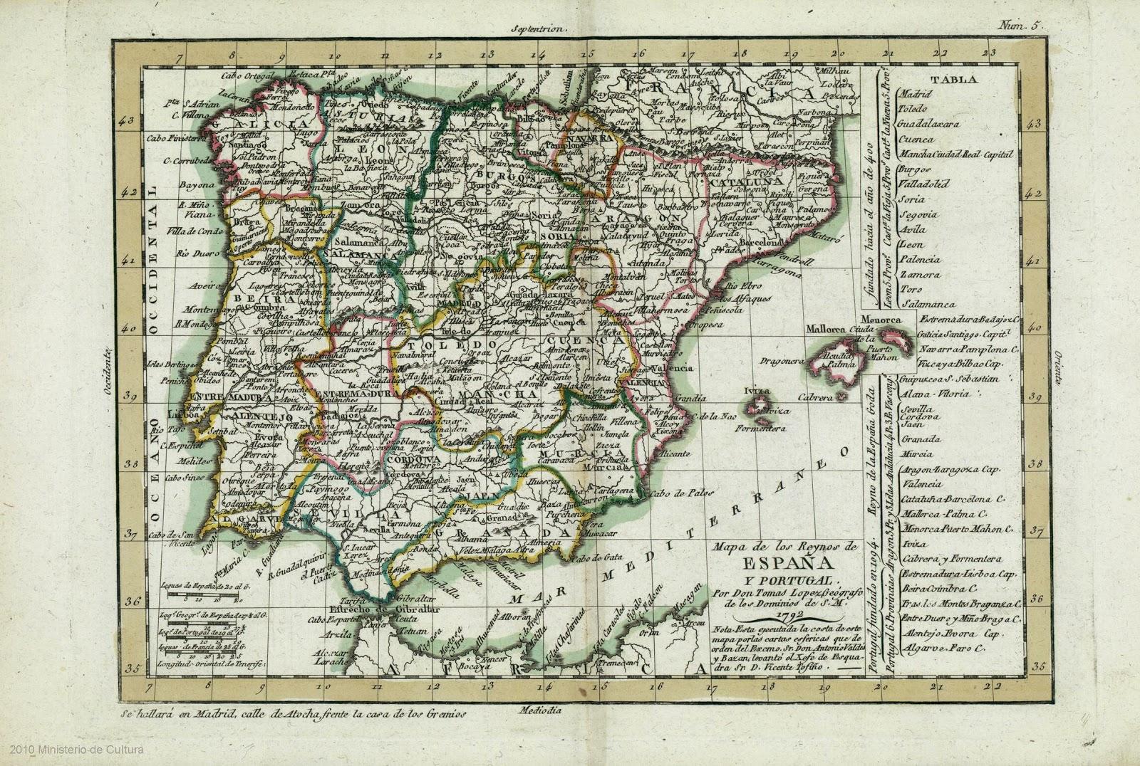 Mapa Tomás López 1792