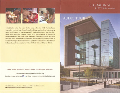 Gates Foundation Audio Tour Brochure