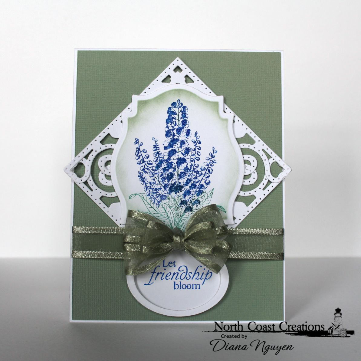 Stamps - North Coast Creations Floral Sentiments 5, ODBD Decorative Corners Die