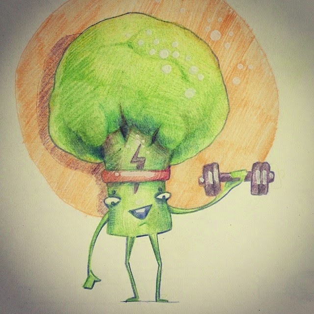 Картинка брокколи, нарисованная брокколи, капуста,