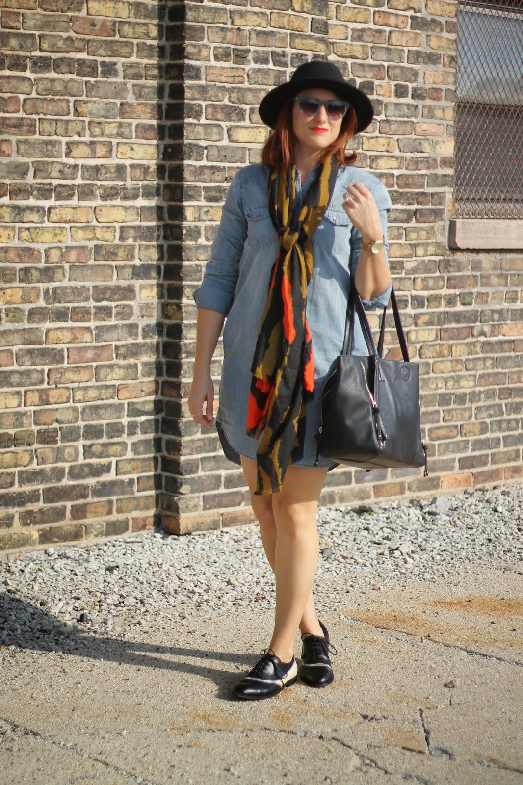gap, denim, shirtdress