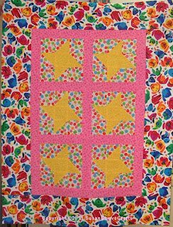 Star Lite, Star Brite quilt top - Jodie