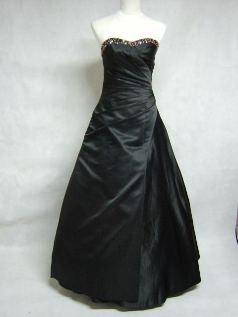 Gothic Strapless Black Wedding Dresses