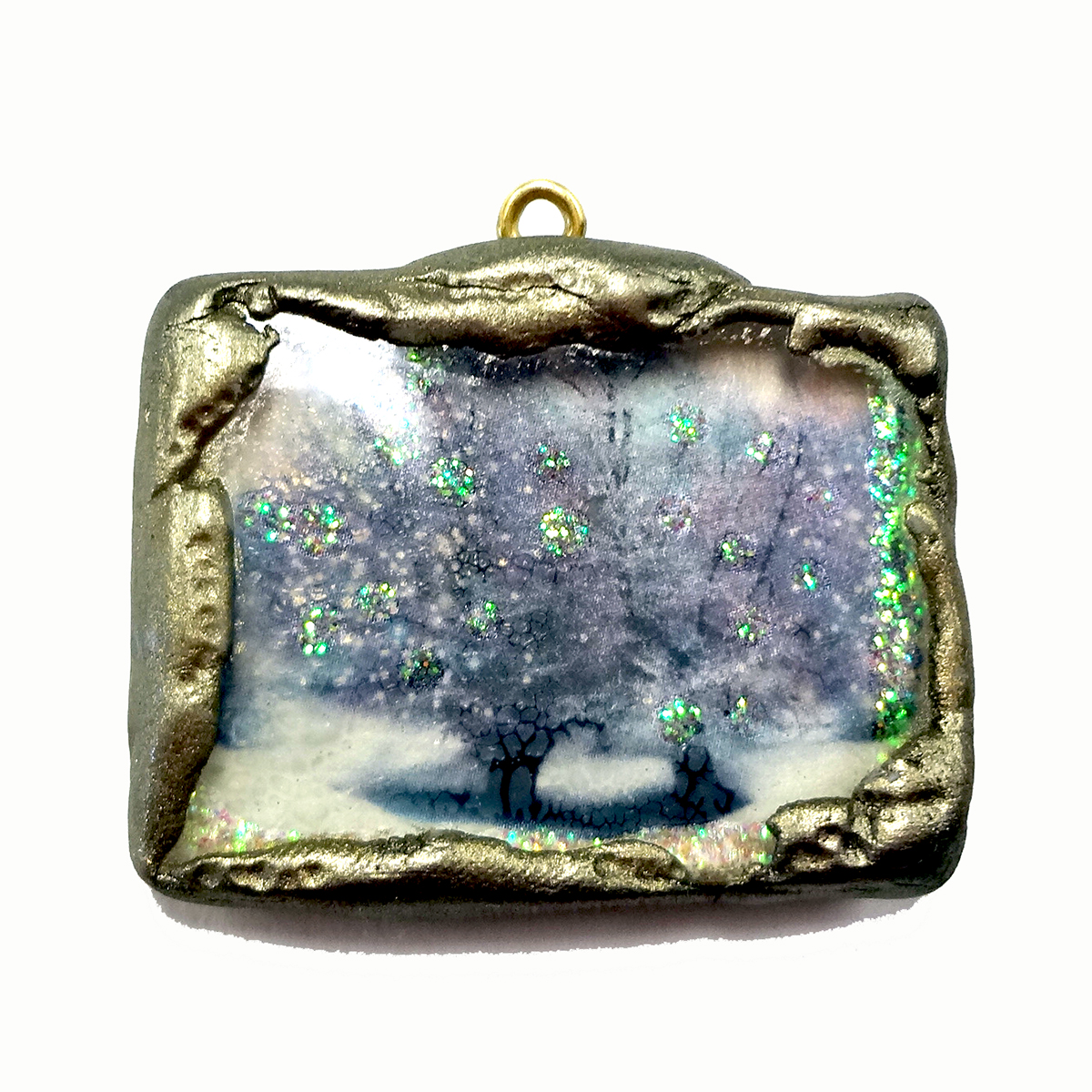 resin crafts faux soldering a plain bezel with jewelry clay