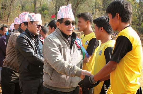 Dignitaries inpecting the players - Naga-Gorkha Sports Meet 2015