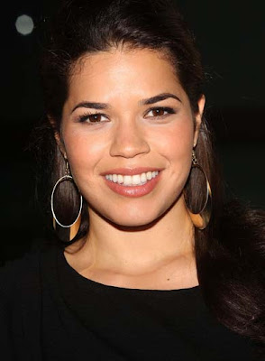 America Ferrera Gold Hoop Earrings