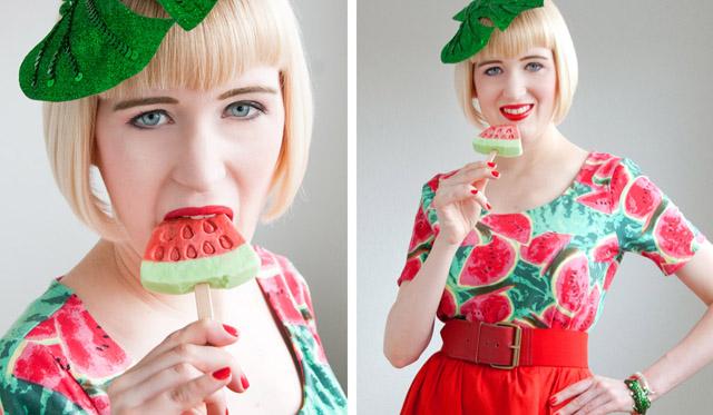 pearls and swine, anna dello russo, melon, fashion