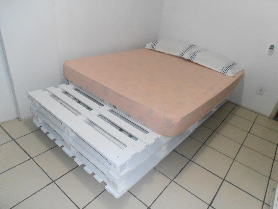 Reforma e decor pallet cama feita por voc for Cama palets