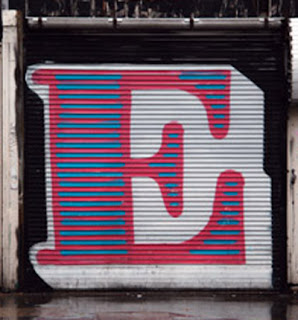 Letter E on Graffiti alphabet art
