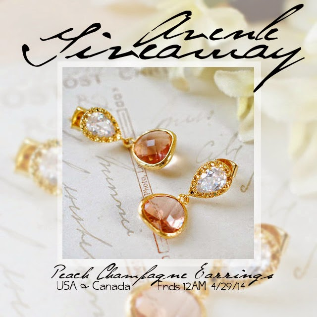 Avenle Peach Champagne Earrings Giveaway
