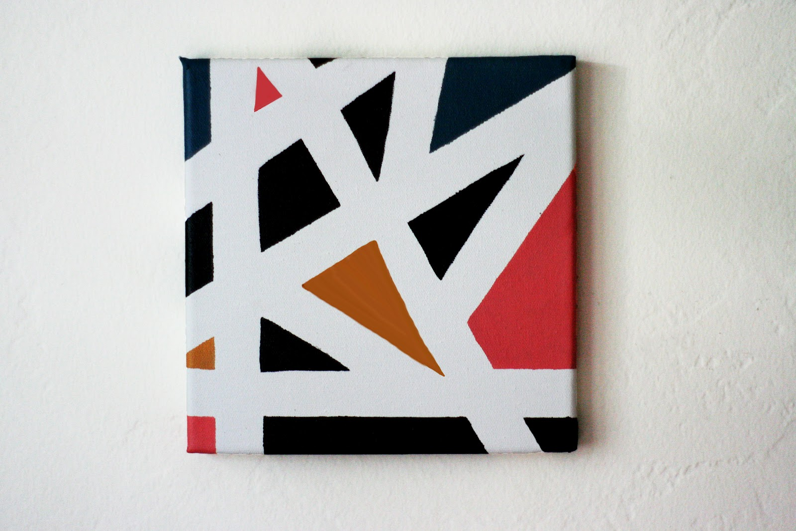 The Plumed Nest Make Graphic Canvas Painting using tape