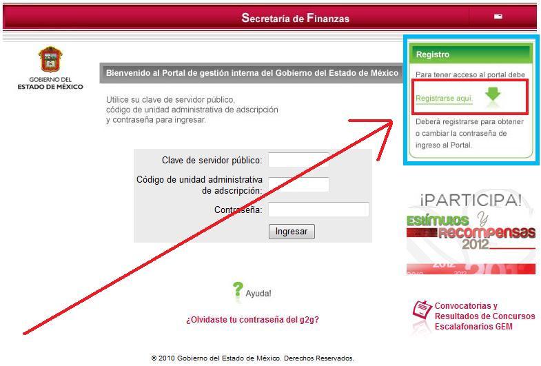 ... 57kB, Portal de Gestión Interna del Gobierno del Estado de México