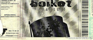 entrada de concierto de boikot
