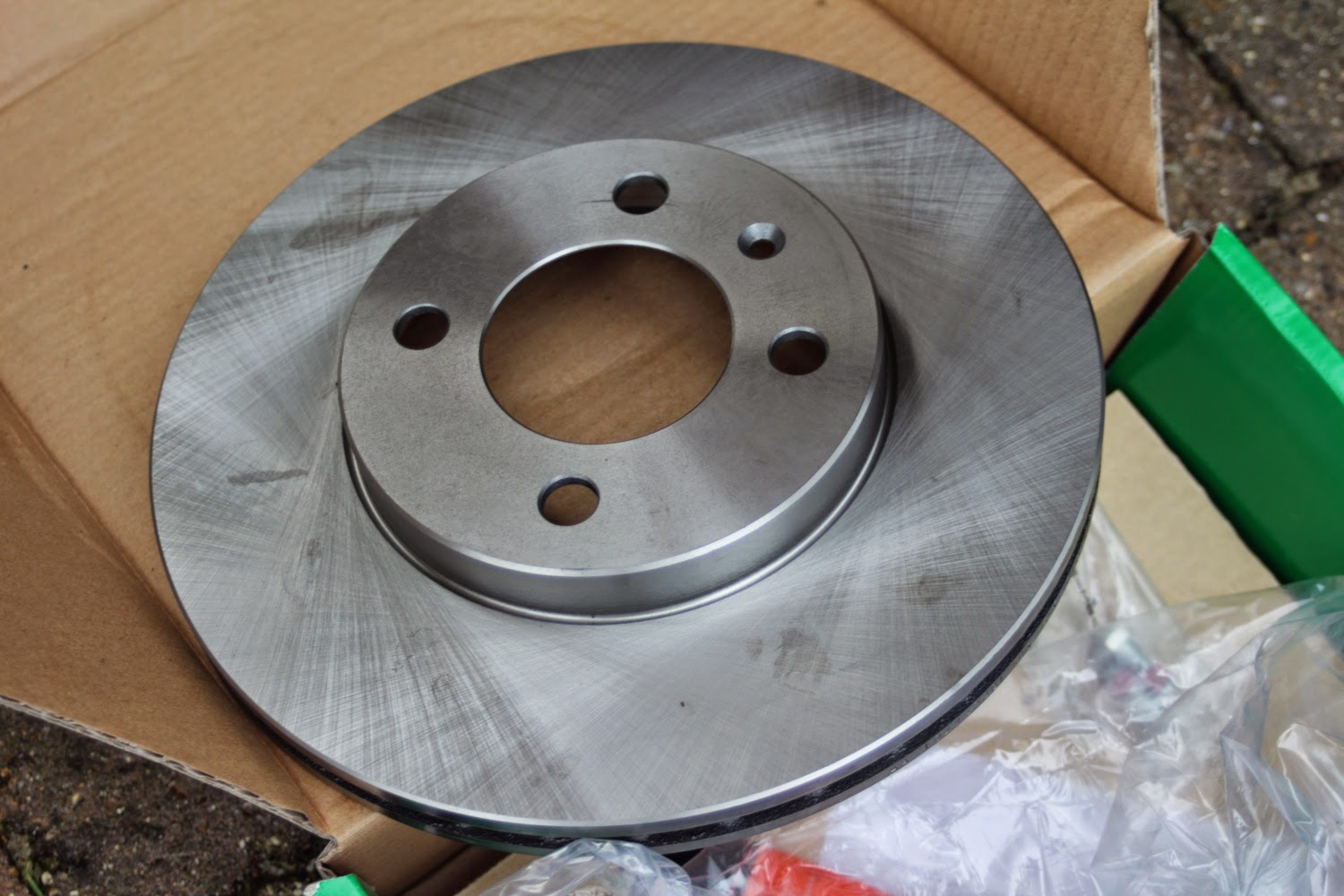 how to clean new brake discs