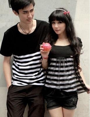 Jual Online Unique Couple Murah di Jakarta Bahan Combed Model Terbaru Keren