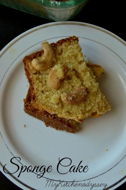 vanilla sponge cake1