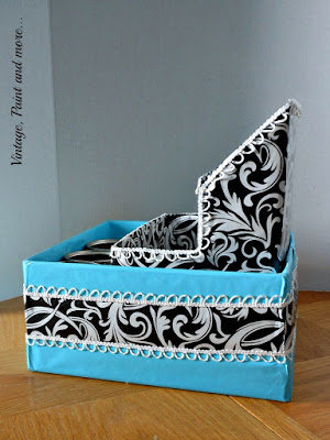 Vintage, Paint and more... side view of embellished dish organizer