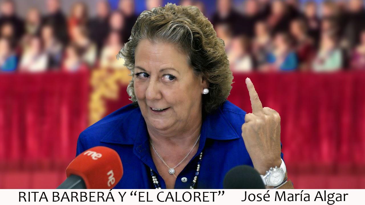 Rita Barberá y El Calorex. Borracha en las Fallas de Valencia