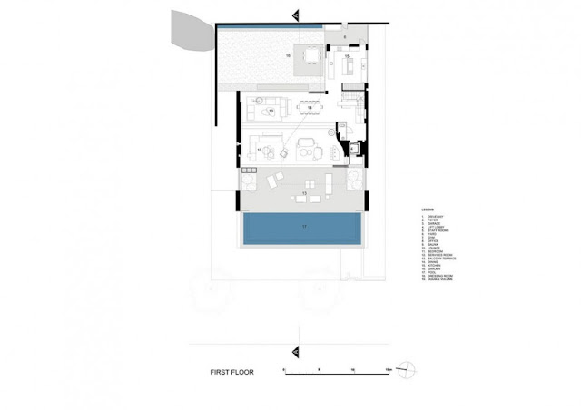 First floor floor plan of an amazing modern home