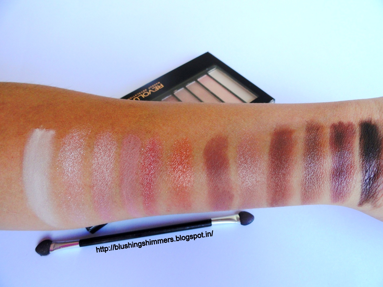 Makeup revolution london iconic 3 palette swatches