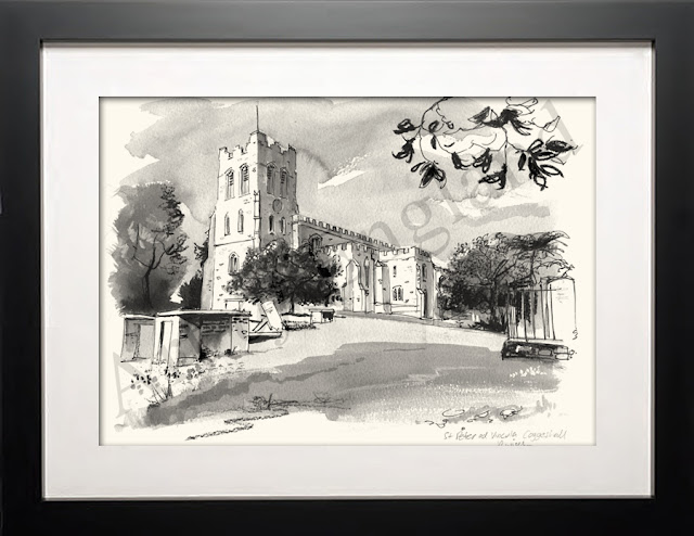 Coggeshall church illustration