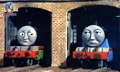 Henry and Gordon the big express engine lonely Thomas the train left the yard to run his branchline
