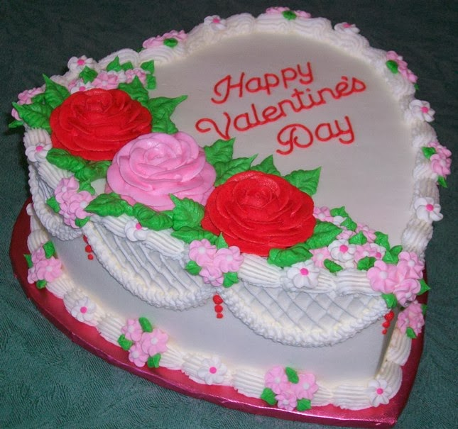 Red and Pink Contrast loving Cake