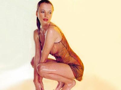 Sara Cox Sexy Wet Dress Photos