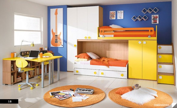 Decoraci n minimalista y contempor nea dise os y colores for Recamaras para ninos espacios pequenos