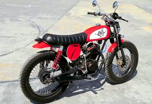 Modifikasi Honda CB100 Street tracker
