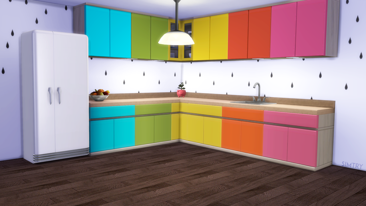 My sims 4 blog kitchen counter and cabinet recolors by simtry for Cc kitchen cabinets