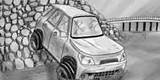 Mobil yang Ditumpangi Mantan Bupati Terjun ke Jurang
