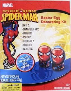 Front of Spider Sense Spider-Man Easter Egg Decorating Kit box