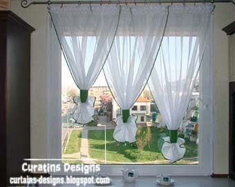 Unique Light White Curtains Designs For Kitchen Window