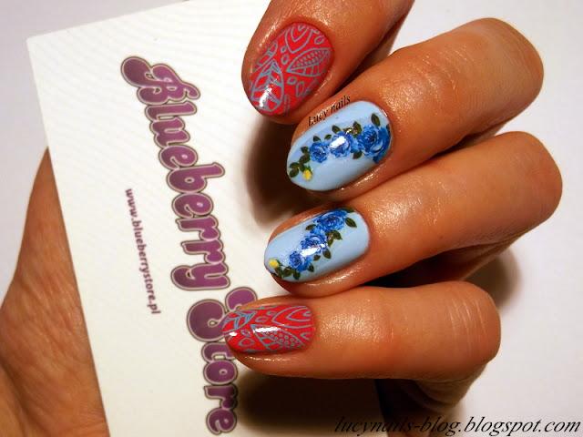 Naklejki wodne kwiaty od Blueberry