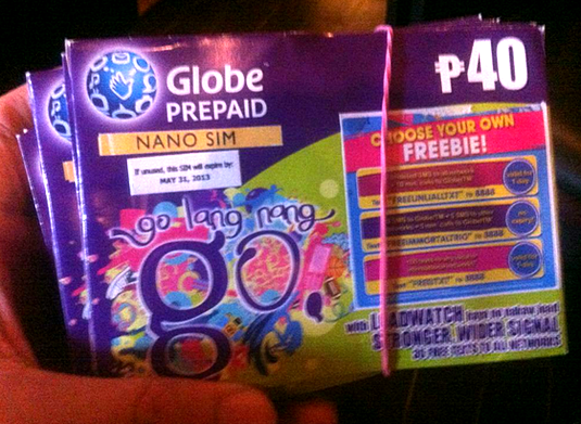 globe nano sim