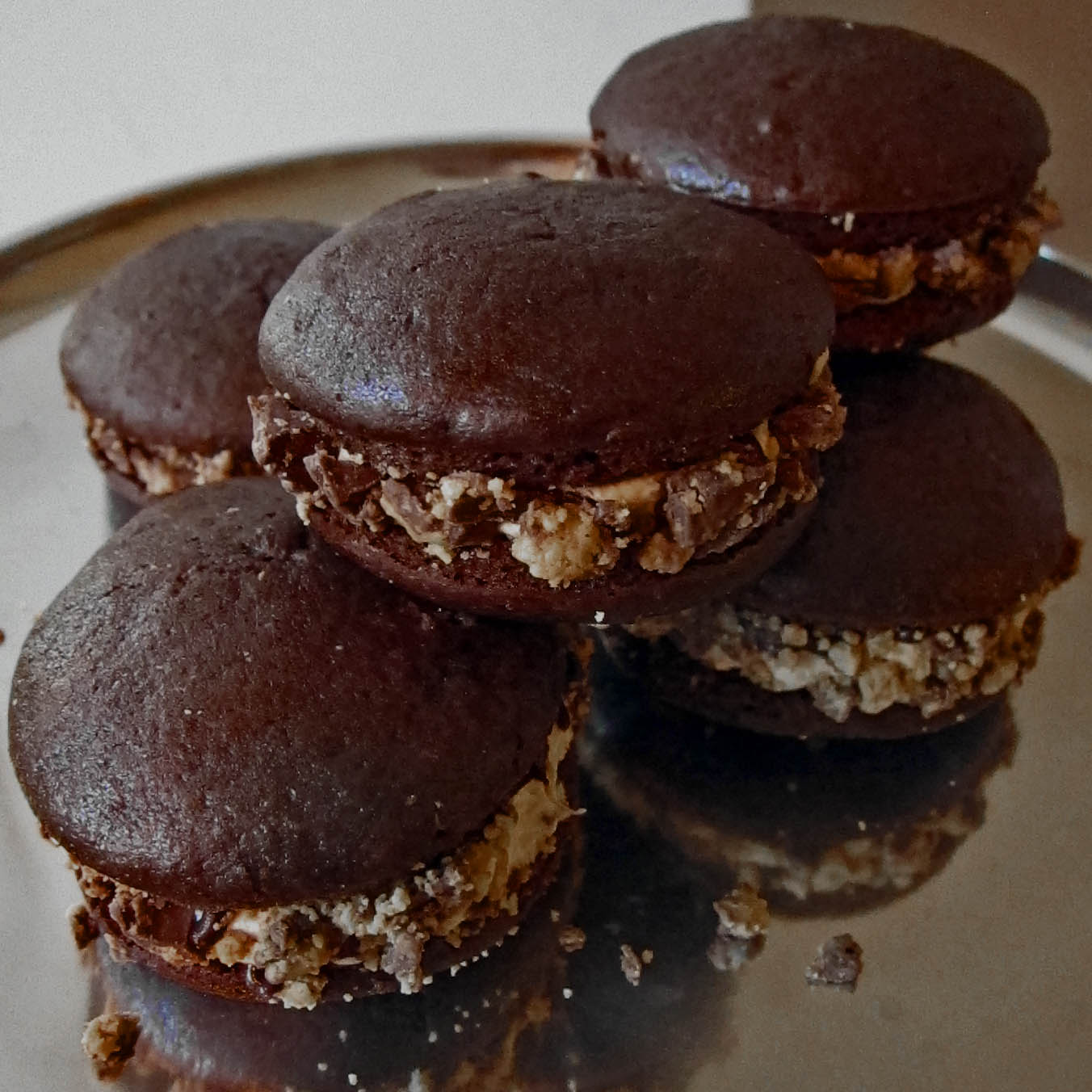 ... : Peanut Butter Cup Whoopie Pies with Chocolate & Peanut Butter Glaze