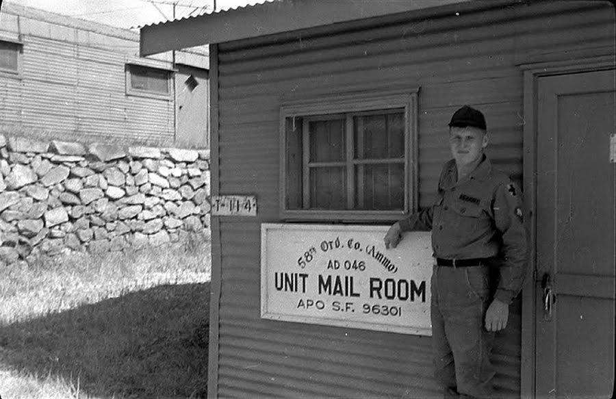 The 58th Ord Co (US ARMY) Mail Room(S.Korea)