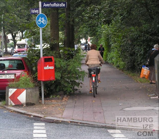 "Hofweg / Averhoffstraße - frührerer ""Radweg"""