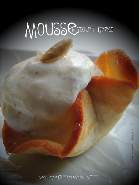 Mousse di Yogurt Greco su cialda