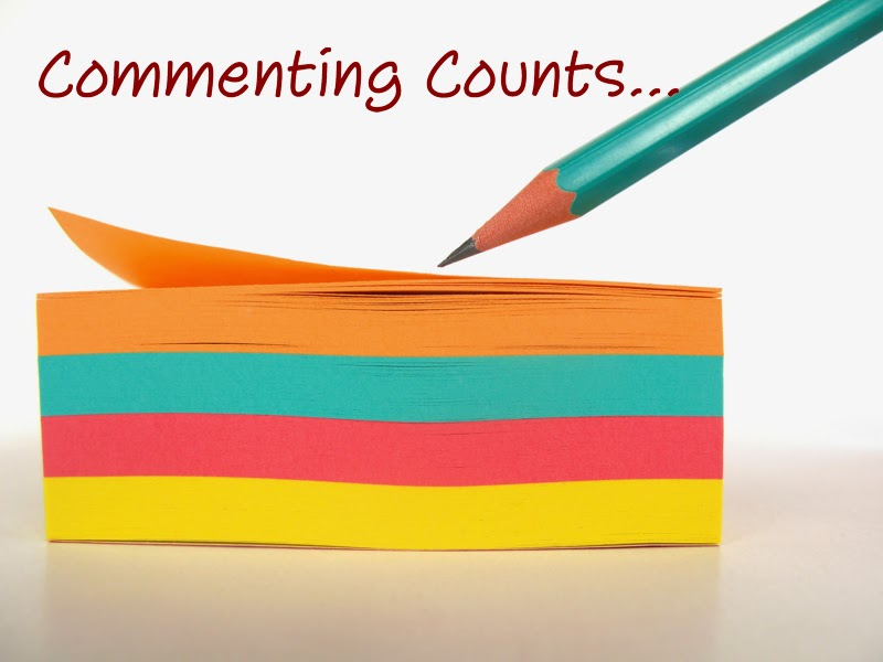 "This is a picture of a stack of ""post-it""notes with a pencil about to write on the top one. Above the stack of ""post-it"" notes it reads ""Commenting counts..."""