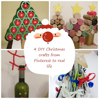 4 DIY Christmas crafts from Pinterest to real life